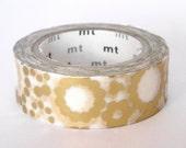 mt Washi Masking Tape - Gold Circles - Limited Edition