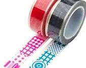 Nuage Glass Tape - Stars & Spots - Set 2 Decorative Clear Tapes