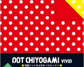 Japanese Double-Sided Origami Paper - Vivid Polka Dots - 15cm (6 inches)
