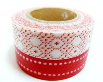 mt Washi Masking Tape - Red Dot & Star - Set 2 (15m rolls)