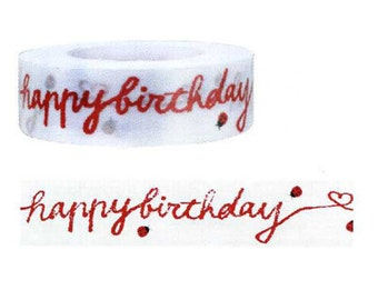 Funtape Masking Tape - Happy Birthday Banner