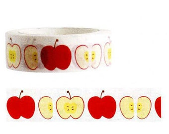 Funtape Masking Tape - Red Apple
