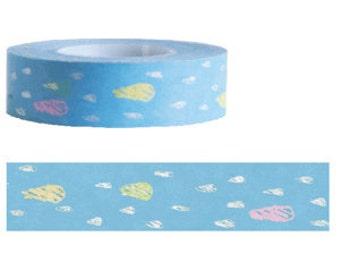 Funtape Masking Tape - Blue Raindrops