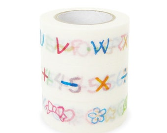 Colte Washi Masking Tape - Letters, Numbers & Symbols - Set 3