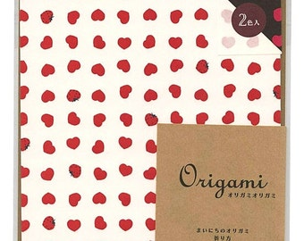Japanese Origami Paper 15cm (6 inches) - Strawberry Hearts