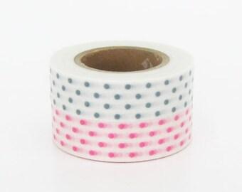 mt Washi Masking Tape - Pink & Smoke Grey Dots - Set 2 (15m rolls)