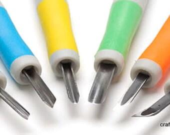 Rabby Eraser Carving Chisel Set - Handmade Rubber Stamps - Set 6