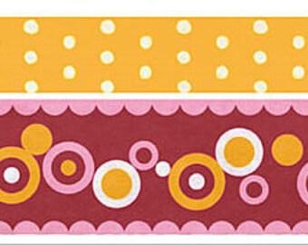 Funtape Masking Tape - Yellow Dots & Pink Circles - Wide Set 2