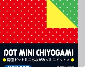 Japanese Double-Sided Origami Paper - Mini Polka Dots - 7.5cm (3 inches)