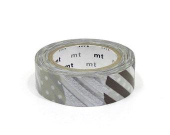 mt Washi Masking Tape - Patch G - Metallic Collage