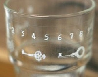 Nuage Glass Tape - Keys & Numbers - Set 2