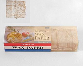 Season Wax Paper - Old Paris Map in Brown - Regular