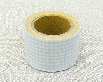 Classiky Fabric Masking Tape - Baby Blue Gingham Check - 30mm Wide