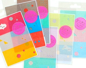 mt Seal Washi Masking Tape Stickers - Dots, Stripes & Geometric Shapes - A B C D E F