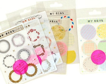 mt Seal Washi Masking Tape Stickers - Vintage Metallic Frames & Borders