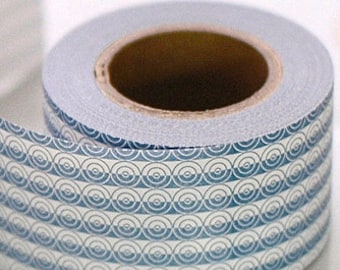 Classiky Craft Paper Tape - Blue Circles Mosaic - 30mm Wide