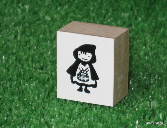Little Red Riding Hood Rubber Stamp - Kawaii Japanese Zakka