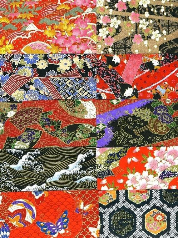 Japanese Yuzen Chiyogami Washi Origami Paper 10 sheets 15cm (6 inches)