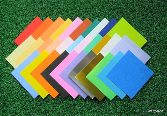 Japanese Origami Paper 7.5cm (3 inches) - 32 colours - 200 sheets