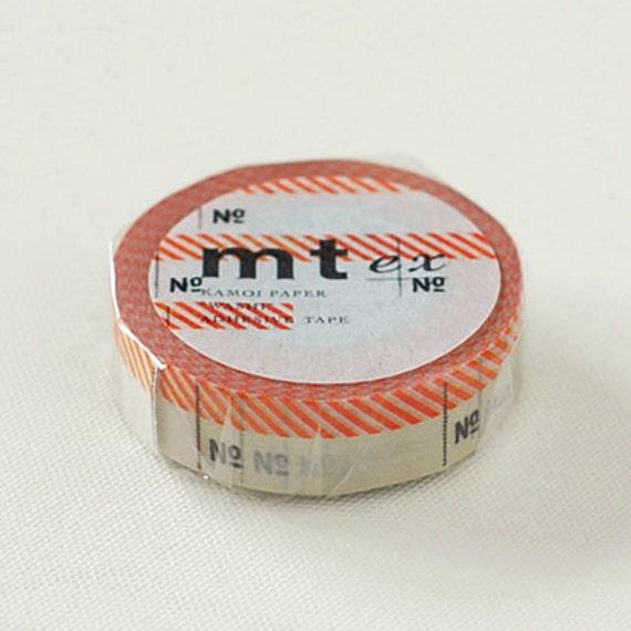 mt ex Washi Masking Tape - Number Label in Red