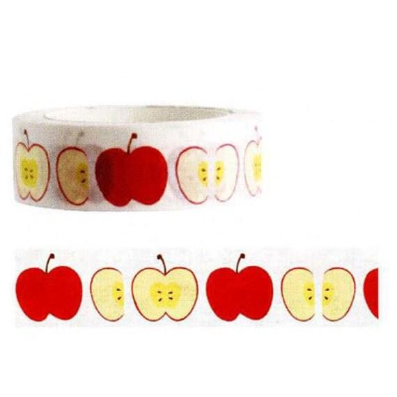 Funtape Masking Tape - Red Apple