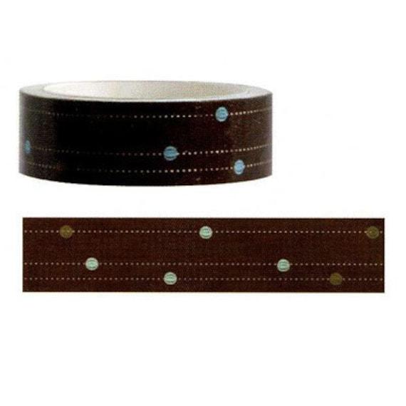 Funtape Masking Tape - Brown Dots