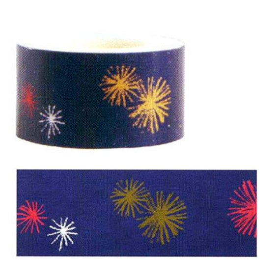 Funtape Masking Tape - Purple Fireworks - 25mm Wide