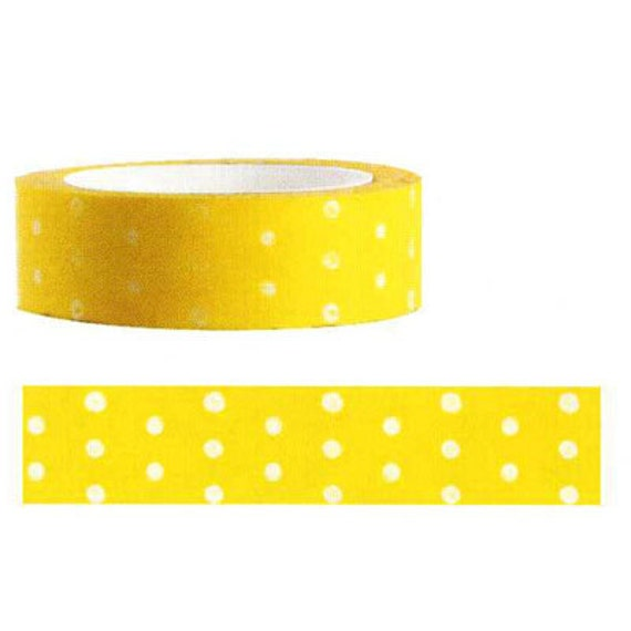 Funtape Masking Tape - Yellow Polka Dots