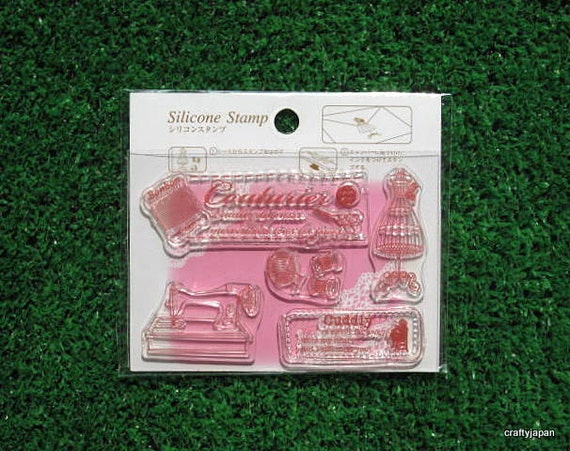 French Mannequin & Sewing Stamp Sheet - Japanese Zakka