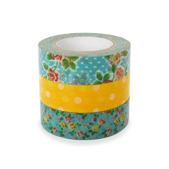 Colte Washi Masking Tape - Rose Yellow - Set 3
