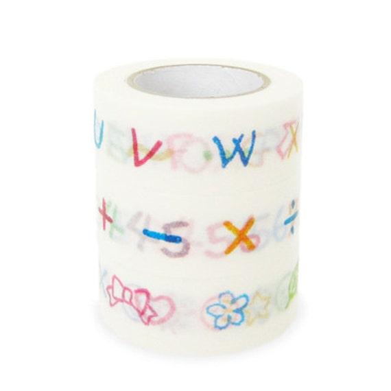 Colte Washi Masking Tape - Letters, Numbers & Symbols - Set 3