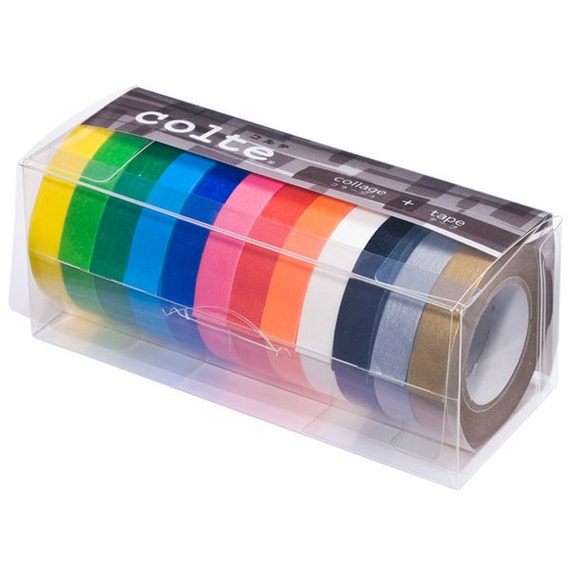 Colte Washi Masking Tape - Colour Palettes - 10mm Set 12