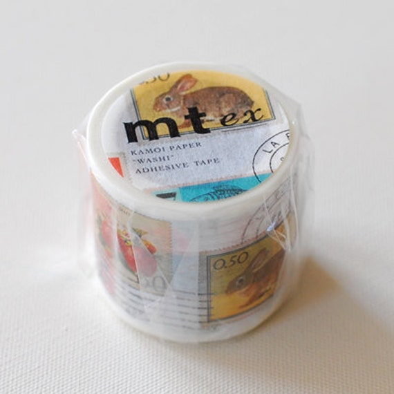 mt ex Washi Masking Tape - Postage Stamps