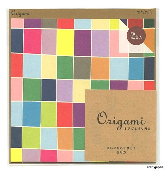 Japanese Origami Paper 15cm (6 inches) - Colourful Patchwork Squares
