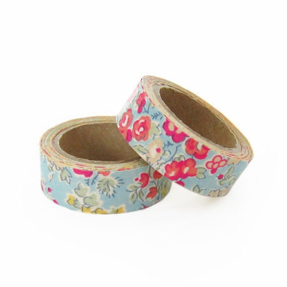liberty of london fabric masking tape tatum in blue set 2. Black Bedroom Furniture Sets. Home Design Ideas