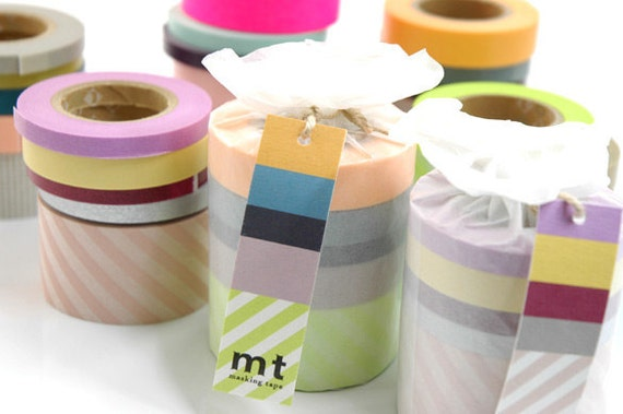 mt Washi Masking Tape - Suite Rolls on Sale - Set 2 - 6mm