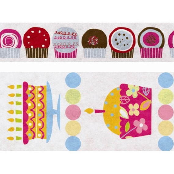 SALE - Funtape Masking Tape - Cupcake Party - Wide Set 2 - 25% off