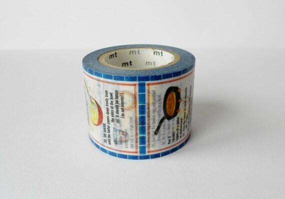 mt Washi Masking Tape - Recipes - Limited Edition