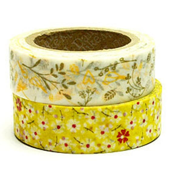 SALE - Decollections Masking Tape - Birds & Flowers - Set 2 - Sarah - 25% off