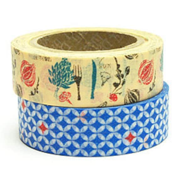SALE - Decollections Masking Tape - Forks, Fauna & Mosaic - Set 2 - Lucy - 25% off