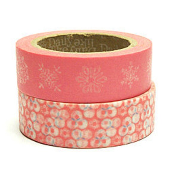 Decollections Masking Tape - Snowflakes & Blossoms - Set 2 - Peony