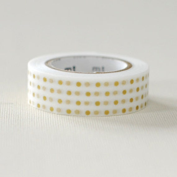 mt Washi Masking Tape - Gold Dots Small - Metallic Spots