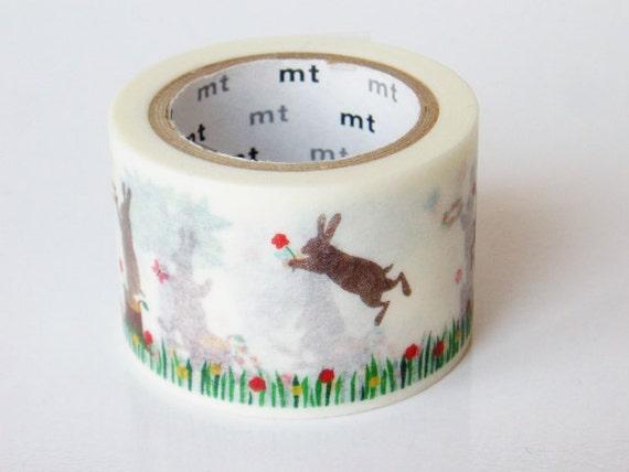 mt Washi Masking Tape - Jumping Rabbit - Limited Edition