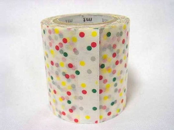 mt Washi Masking Tape - Colourful Confetti Dots - Limited Edition - 50mm Wide
