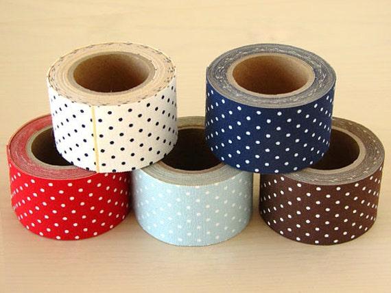 Classiky Fabric Masking Tape - Mint Polka Dots - 30mm Wide