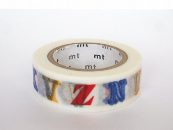 mt Washi Masking Tape - Colourful Alphabet in N-Z - Limited Edition