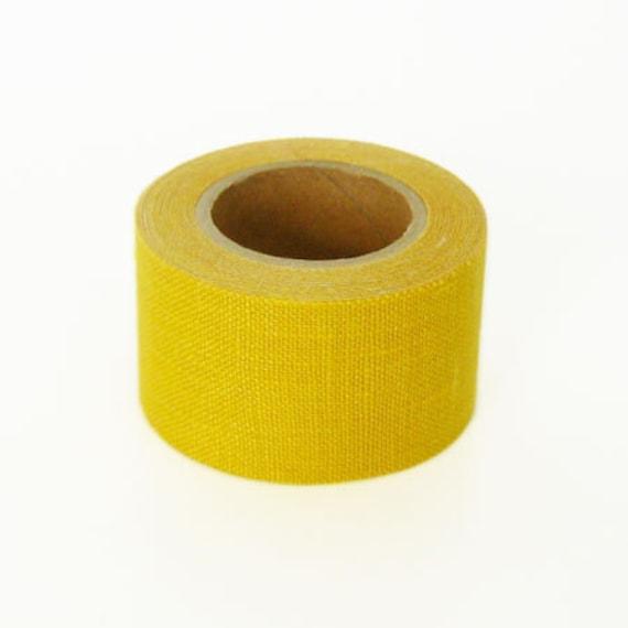 Kurashiki Linen Fabric Masking Tape - Mustard - 30mm Wide