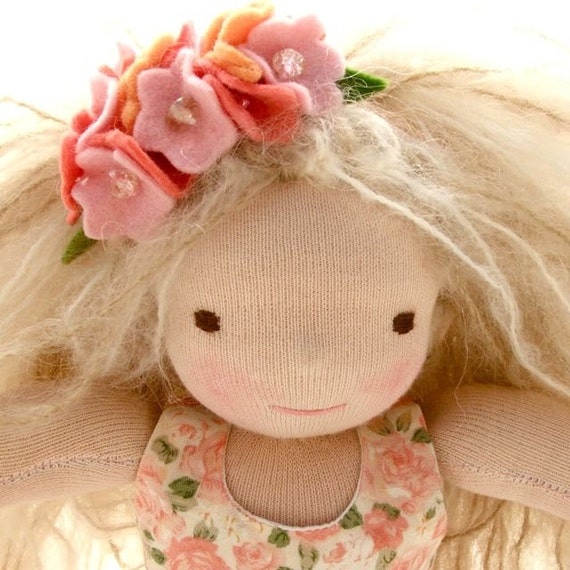 Reserved for Kate 9inch Waldorf doll- Lily