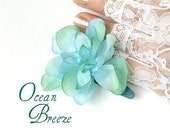 Ocean Breeze\/ Silk Floral Hair Clip\/Multiples Avail. Bridal\/Gifts