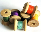 pile of vintage thread spools...    to use in your ASSEMBLAGE mixed media HOME DECOR or in any way you would want Jun 14